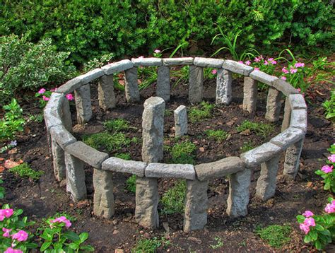 backyard stonehenge mini version of stonehenge in garden