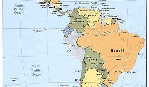 south america map and central america maps map of central and south america