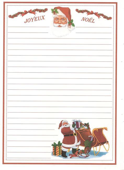 Modèle De Lettre Du Père Noel Papiers A Lettre De Noel