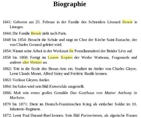 Biografie Vorlage by Vorlage Biografie Lebenslauf Beispiel