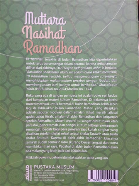 Buku Saku Patofisiologi Menjadi Sangat Mudah Ed2 Diskon buku mutiara nasihat ramadhan 20 kajian ramadhan seri 2