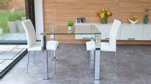 glass kitchen tables sets stylish small dining set chrome and clear glass modern