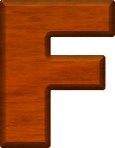 presentation alphabets cherry wood letter f