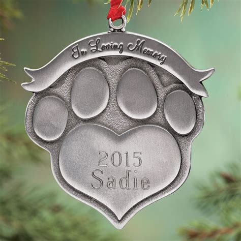 personalized pet memorial ornament