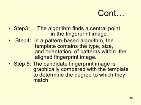 types of pattern matching algorithm finger prints