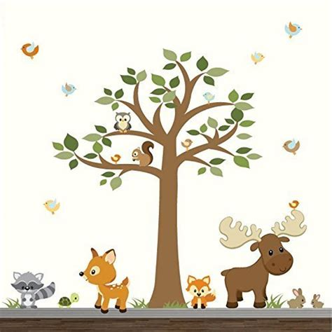 Woodland Animals Wall Stickers wall decal wonderful ideas woodland animal wall decals