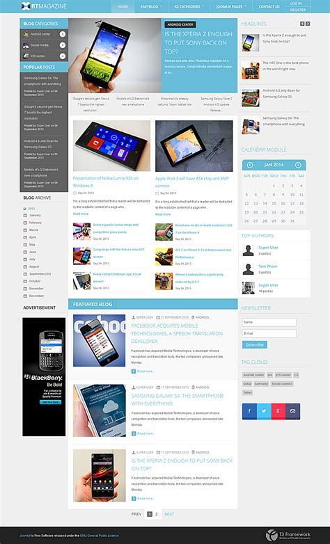 modern joomla templates bowthemes releases new joomla template supporting easyblog
