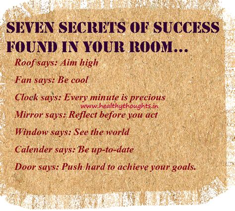thoughts room seven secrets of success found in your room healthythoughts the mind is everything