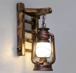 Lantern Wall Sconce Styl Bamboo Ladder Wall Ls Vintage Barn Lantern Rustic Wall Sconces Lighting Kerosene