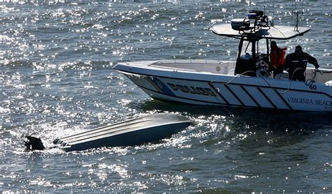 tidewater boats careers wave capsized boat that sent fishermen into bay police