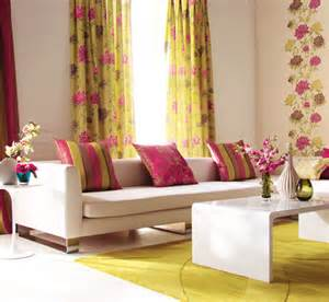 blue and yellow living room curtains home decorating