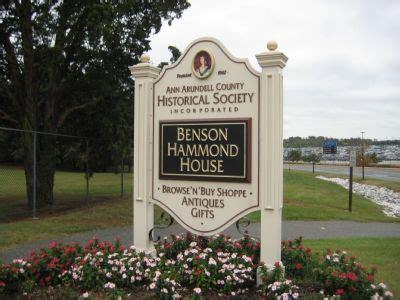 benson hammond house benson hammond house historical marker