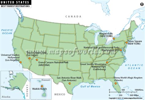 travel destination maps usa travel map tourist destinations travelquaz