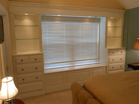 built in shelves and cabinets traditional bedroom