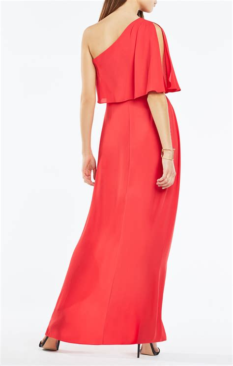 draped gowns secha one shoulder draped gown