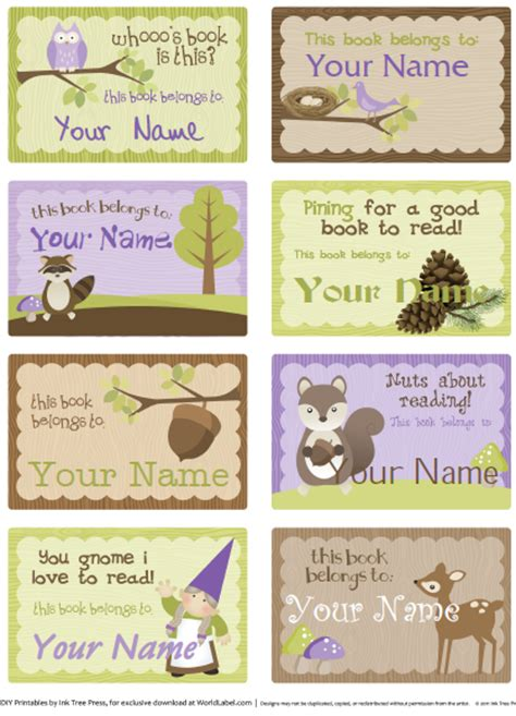book label templates bookplate labels by ink tree press worldlabel