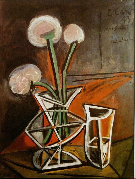 picasso paintings flowers picasso vase with flowers 1943 in high definition