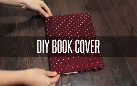 How To Make A Book Cover From A Paper Bag - diy slip on book cover