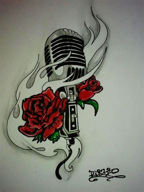 vintage mic with roses by rdizio on deviantart