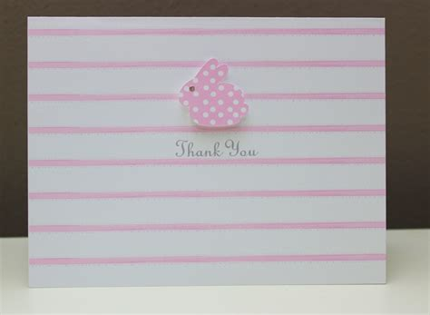 Thank You Notes For Baby Shower Gifts by Bunny Baby Shower Thank You Or Gift Note Card Pink Blue
