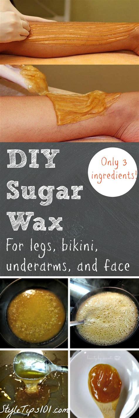 how to make sugar wax at home