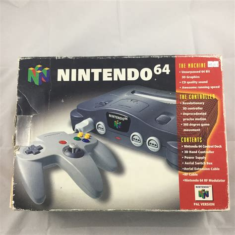 nintendo 64 console nintendo 64 n64 console boxed retroplayers