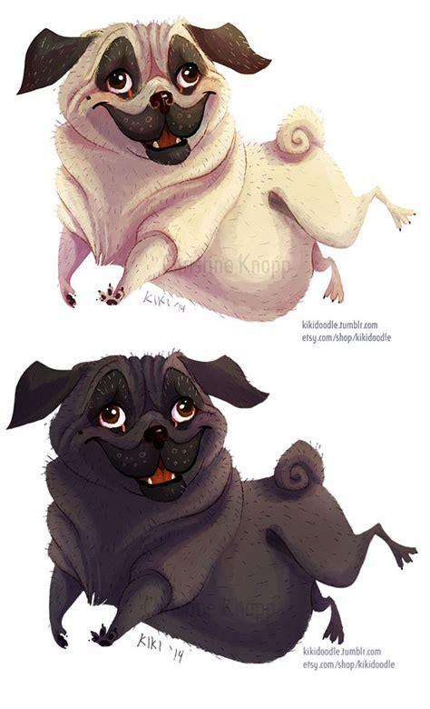 pug doodle pug and variation sticker by doodle on deviantart