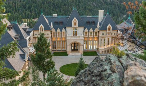 homes for evergreen co 21 000 square foot newly built limestone mega mansion in