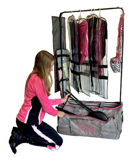 Suitcase With Garment Rack by Pack 2 Rack