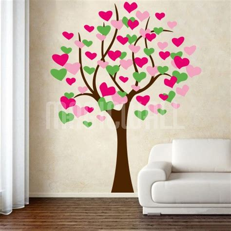 hearts wall stickers wall stickers beautiful tree magic wall decals canada