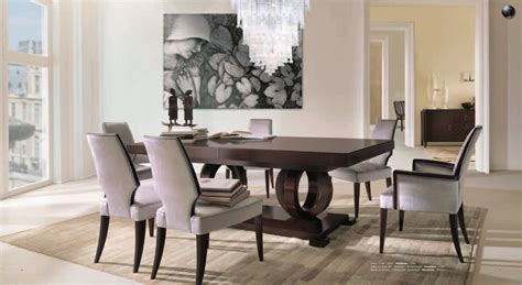 exclusive dining room furniture large vendome extendable dining table luxury dining table