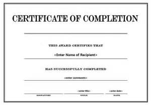 free certificate of completion templates for word free editable award certificates best and various
