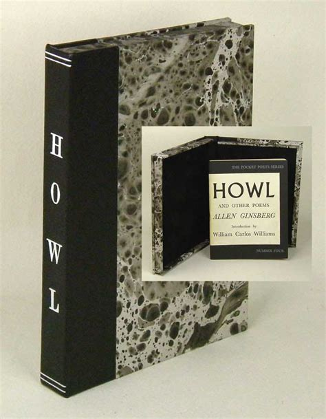 howl for it books howl and other poems custom clamshell not a book