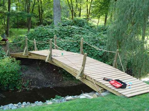 how to make a wooden bridge diy building a wooden bridge over a creek plans free