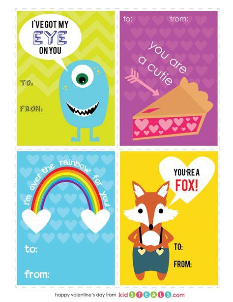 printable children s valentines 4 free valentine s day printables for kids kidsteals com