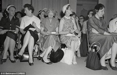 show woman photos in their fifties how fashion shows have changed from the fifties to today