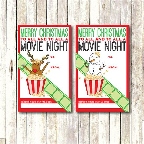 Can You Buy Redbox Gift Cards - redbox gift card tag printable instant download by cocodelava