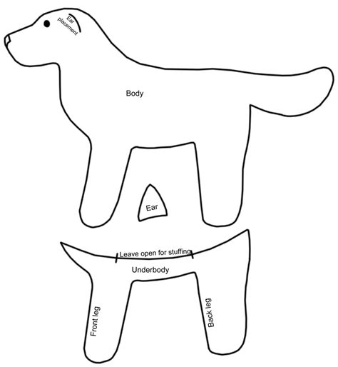 Free Simple Dog Pattern By Bookthief17 On Deviantart Template To Sew