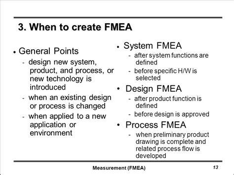 design fmea definition fmea 1 definition 2 process fmea 3 when to create fmea