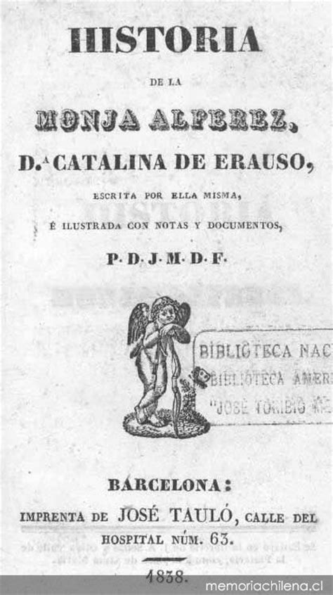Historia de la monja Alférez, da. Catalina de Erauso