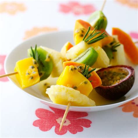 fruit kebabs fruit kebabs with fruit rosemary and lemon drench