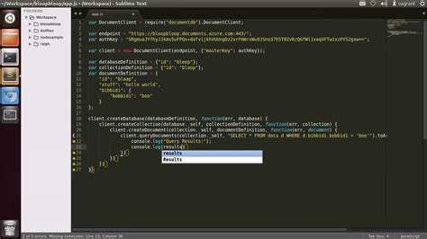 tutorial node js website azure demo getting started with azure documentdb on node