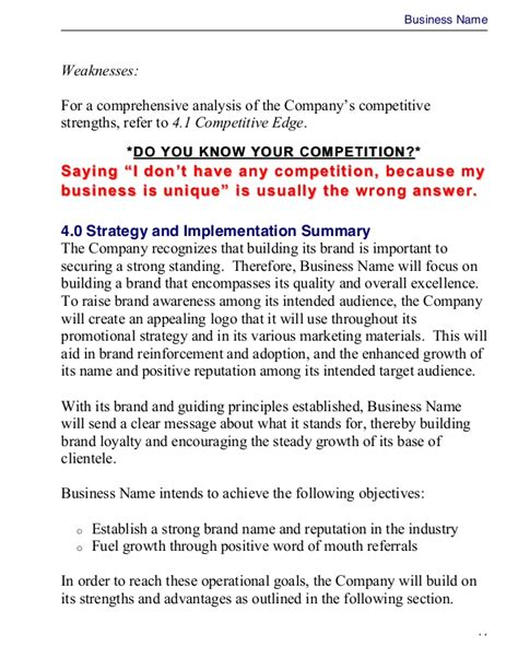 Business Plan Template Master Plans Doc Business Master Plan Template