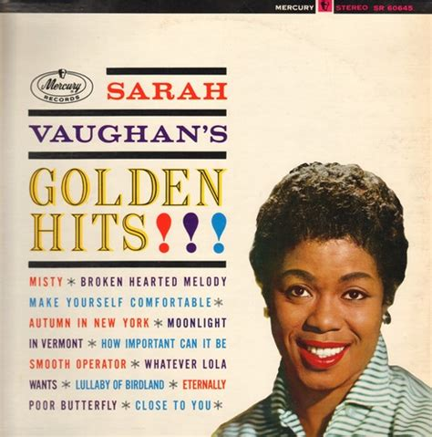 sarah vaughan make yourself comfortable golden hits misty broken hearted melody make yourself