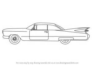 learn draw vintage cadillac vintage step step drawing tutorials