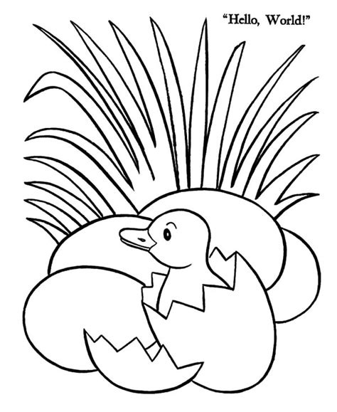 coloring pages duck egg duck egg hatching beside grass coloring pages color luna