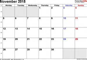November 2018 Calendar With Holidays Calendar November 2018 Uk Bank Holidays Excel Pdf Word