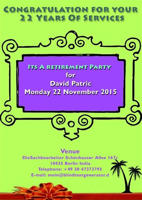 Retirement Party Flyer Templates And Awesome Farewell And Retirement Invitation Card Designs Microsoft Powerpoint Templates Retirement