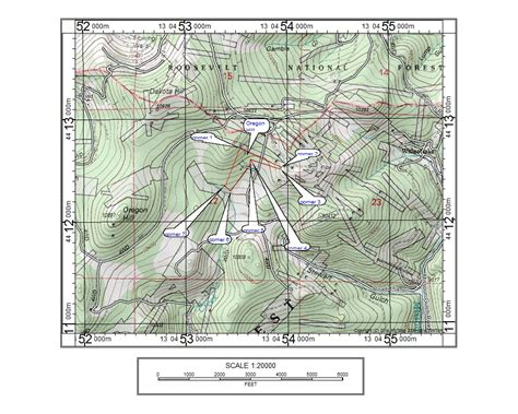 3d topographical map of oregon oregon mountain placer 5500 00