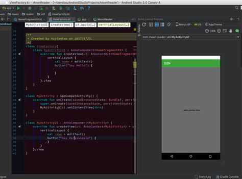 android layout cover android studio 3 0 alpha4 is not supported anko layout